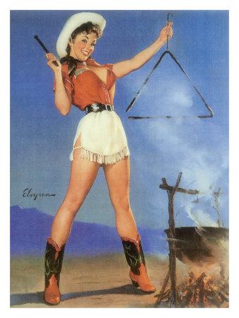 Cowgirl retro poster