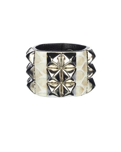 Made Her Think Python Studded Cuff Triple Cream