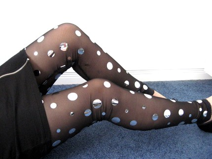 mirror dot tights etsy